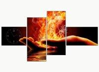 Vuur wandklokken