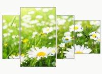 Bloemen wandklokken