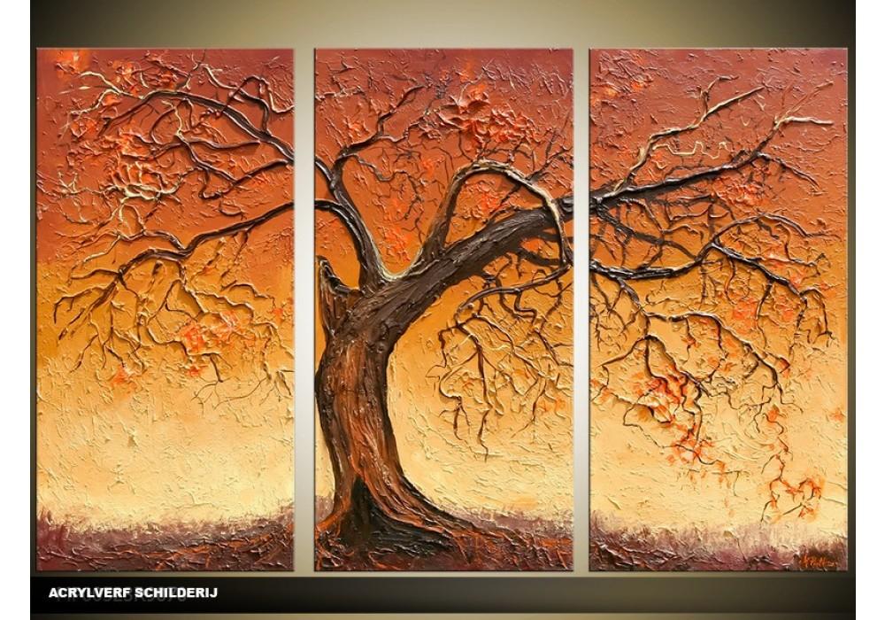 Wonderlijk Acryl Schilderij Boom | Bruin | 120x80cm 3Luik ID-44