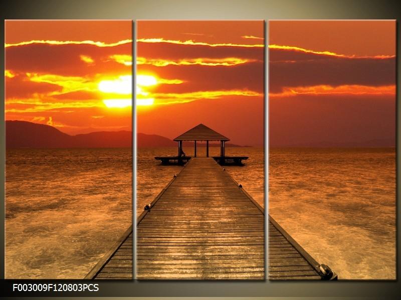 OP VOORRAAD Foto canvas schilderij Uitzicht   Kleur: Geel, Oranje, Bruin   F003009
