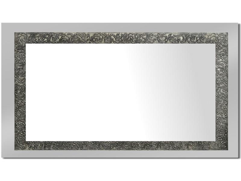 Grote spiegel met houten lijst 112 x 72 cm. L00003R