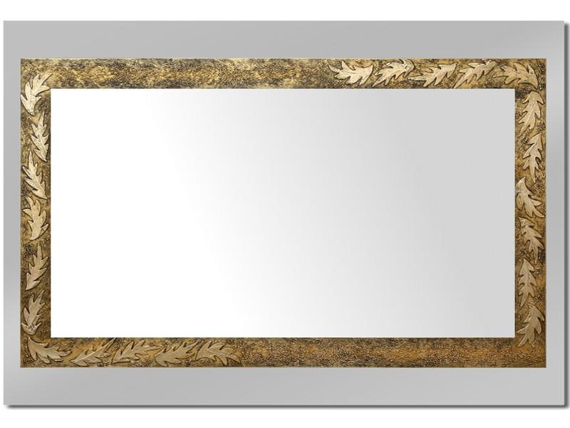 Grote spiegel met houten lijst 112 x 72 cm. L00004R
