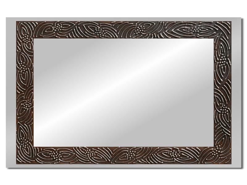 Grote spiegel met houten lijst 112 x 72 cm. L00009R