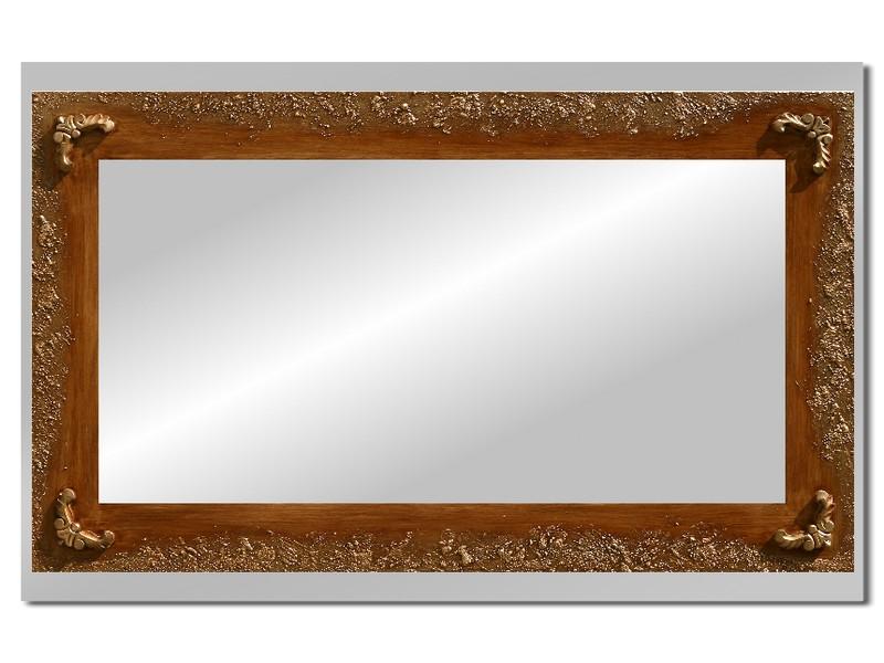 Grote spiegel met houten lijst 112 x 72 cm. L00010R