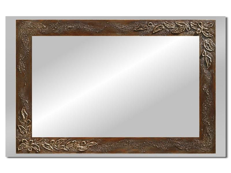 Grote spiegel met houten lijst 112 x 72 cm. L00012R