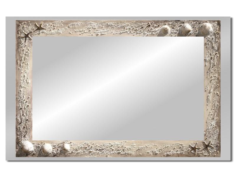 Grote spiegel met houten lijst 112 x 72 cm. L00014R