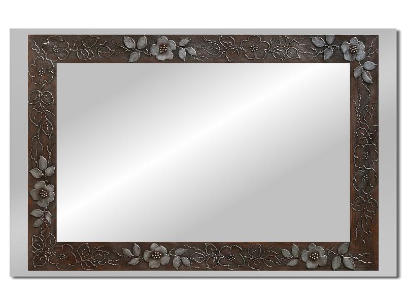 Grote spiegel met houten lijst 112 x 72 cm. L00015R
