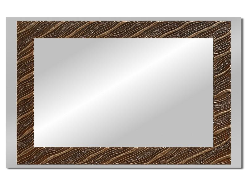 Grote spiegel met houten lijst 112 x 72 cm. L00016R