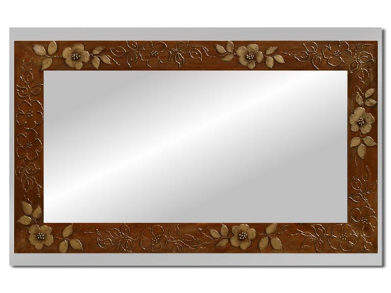 Grote spiegel met houten lijst 112 x 72 cm. L00017R
