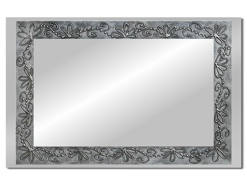 Grote spiegel met houten lijst 112 x 72 cm. L00019R