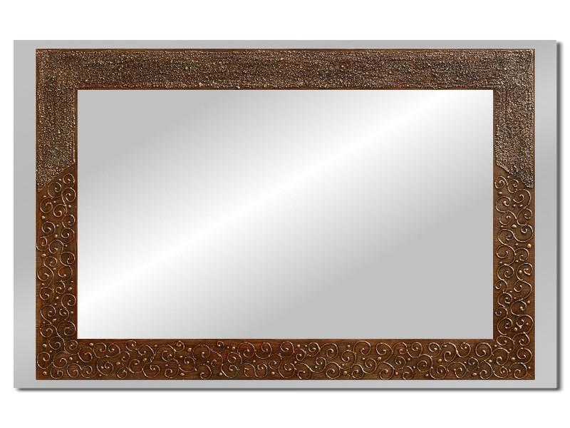 Grote spiegel met houten lijst 112 x 72 cm. L00022R
