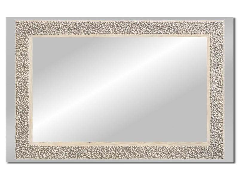 Grote spiegel met houten lijst 112 x 72 cm. L00024R