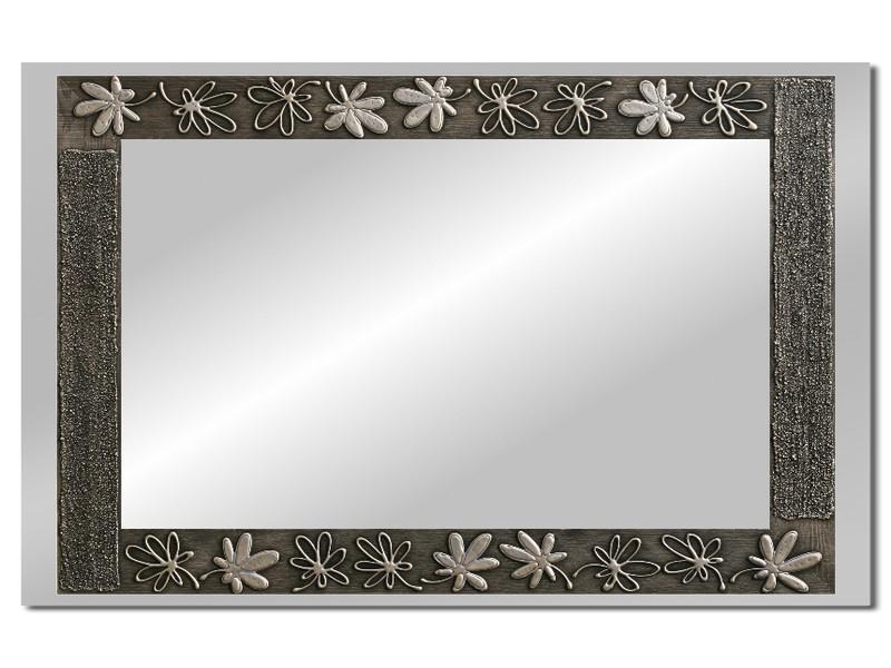 Grote spiegel met houten lijst 112 x 72 cm. L00025R
