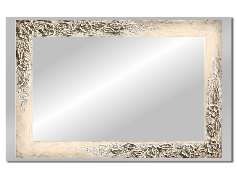 Grote spiegel met houten lijst 112 x 72 cm. L00027R