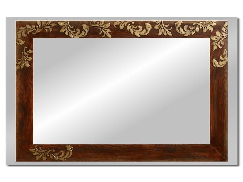 Grote spiegel met houten lijst 112 x 72 cm. L00033R