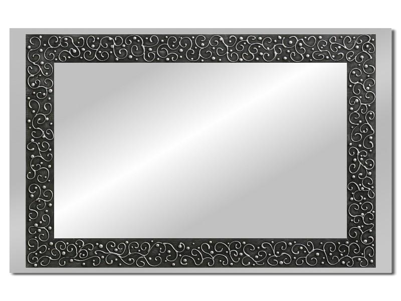 Grote spiegel met houten lijst 112 x 72 cm. L00035R