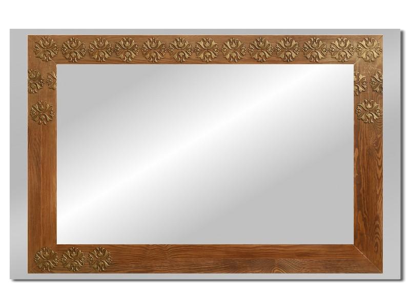Grote spiegel met houten lijst 112 x 72 cm. L00036R