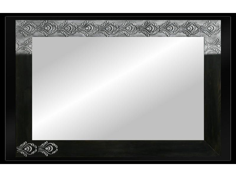 Grote spiegel met houten lijst 112 x 72 cm. L00037R