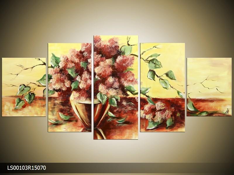 Acrylverf schilderij Woonkamer | Kleur: Creme , Bruin | LS00103