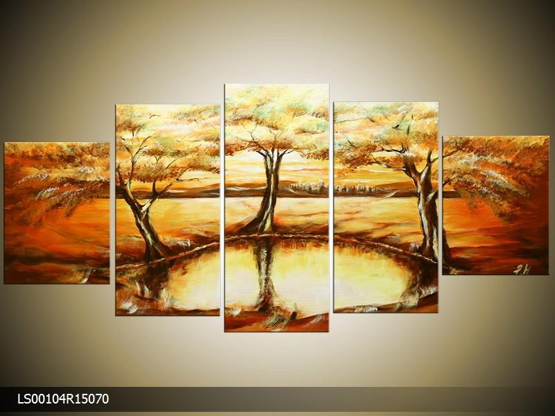 Acrylverf schilderij Natuur | Kleur: Creme , Bruin | LS00104