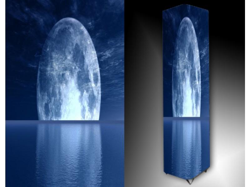 Ledlamp 100, Abstract, Blauw, Grijs, Wit