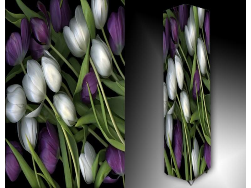 Ledlamp 1023, Tulpen, Paars, Wit, Groen