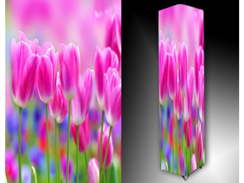 Ledlamp 1026, Tulpen, Roze, Blauw, Groen