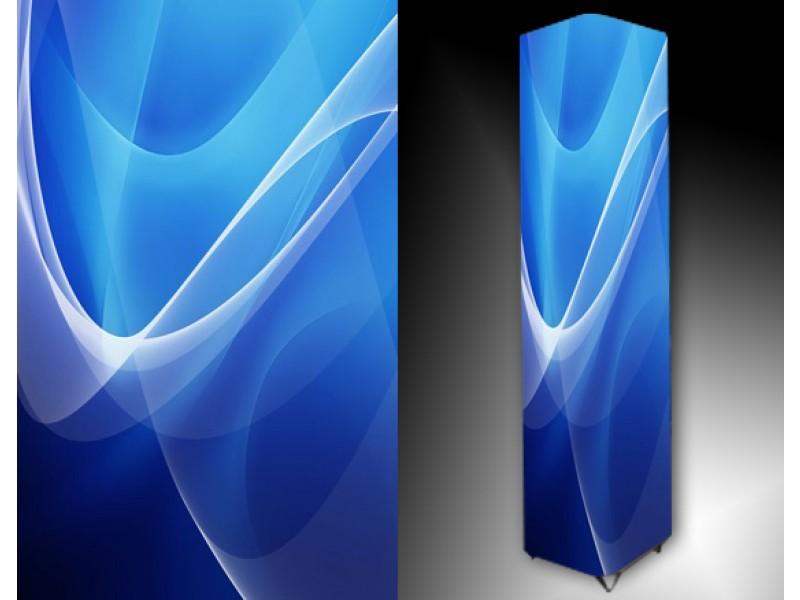 Ledlamp 104, Abstract, Blauw, Grijs, Wit