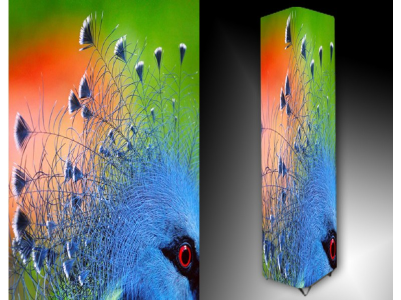 Ledlamp 107, Abstract, Wit, Blauw, Grijs