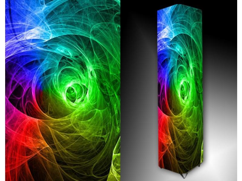 Ledlamp 114, Abstract, Groen, Oranje