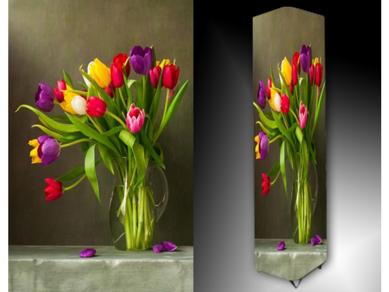 Ledlamp 1141, Tulpen, Paars, Rood, Geel
