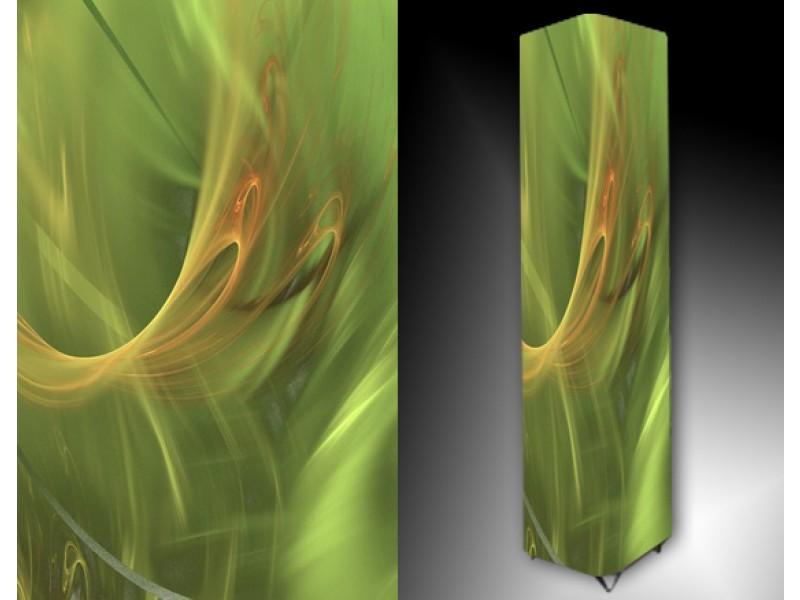 Ledlamp 115, Abstract, Groen, Wit, Zwart