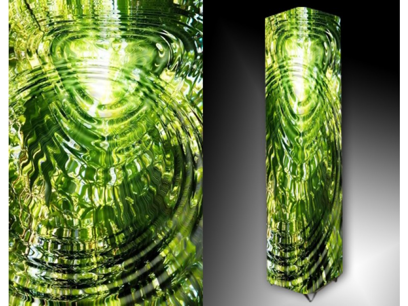 Ledlamp 116, Abstract, Groen, Grijs