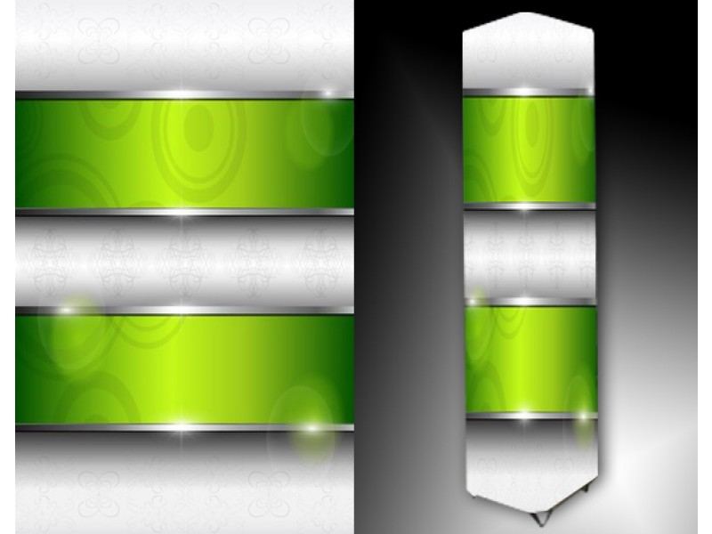 Ledlamp 117, Abstract, Grijs, Groen, Oranje