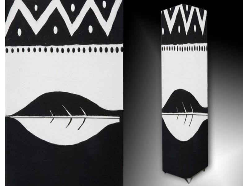 Ledlamp 12, Abstract, Zwart, Wit
