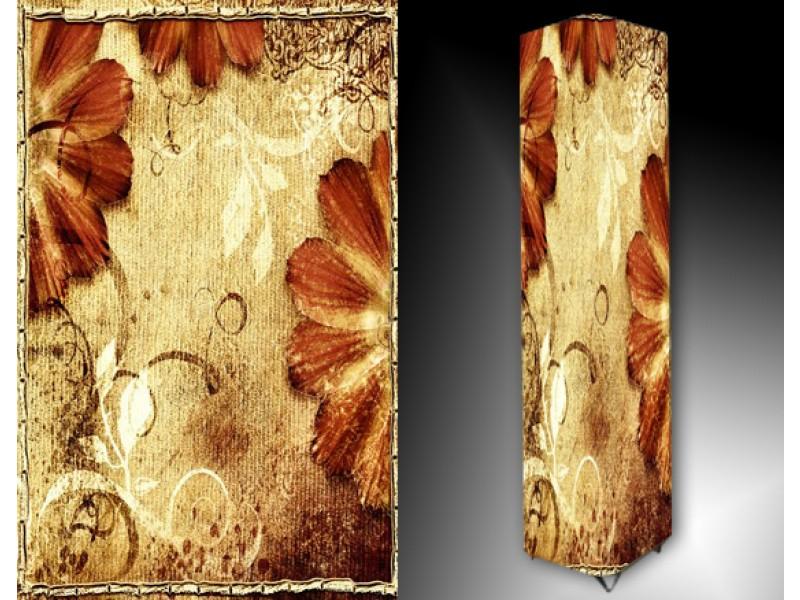 Ledlamp 128, Abstract, Bruin, Wit