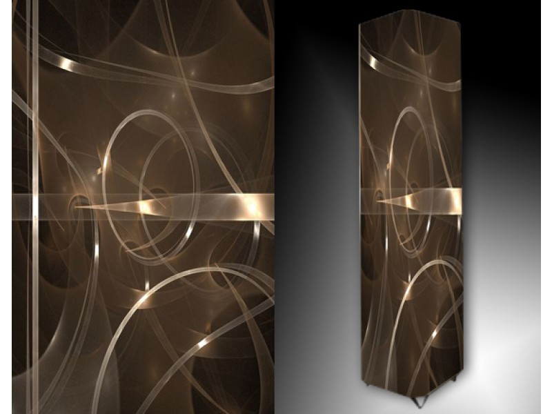 Ledlamp 130, Abstract, Geel, Rood, Grijs