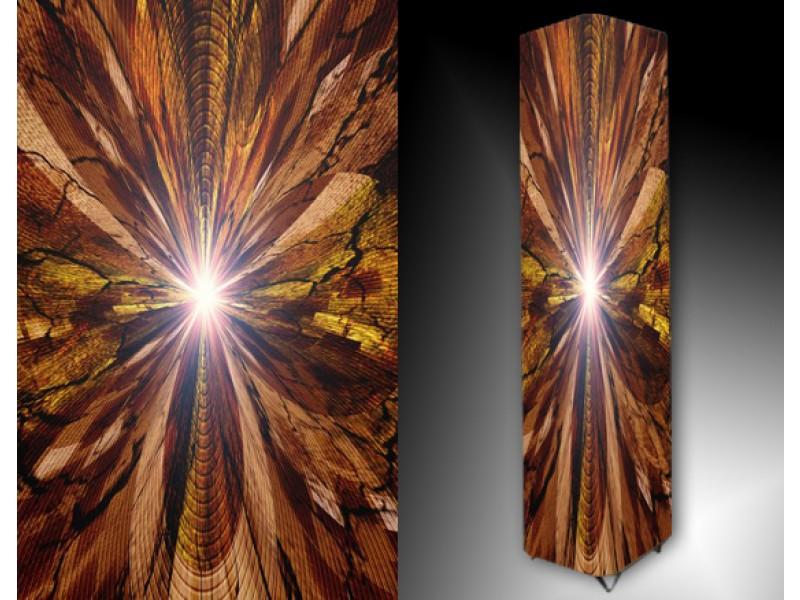 Ledlamp 140, Abstract, Bruin, Geel