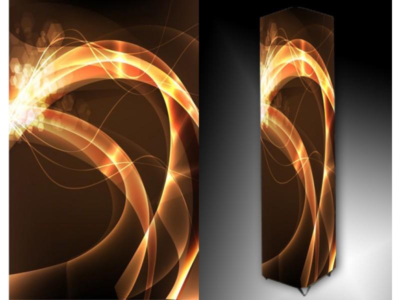 Ledlamp 145, Abstract, Bruin, Oranje, Geel
