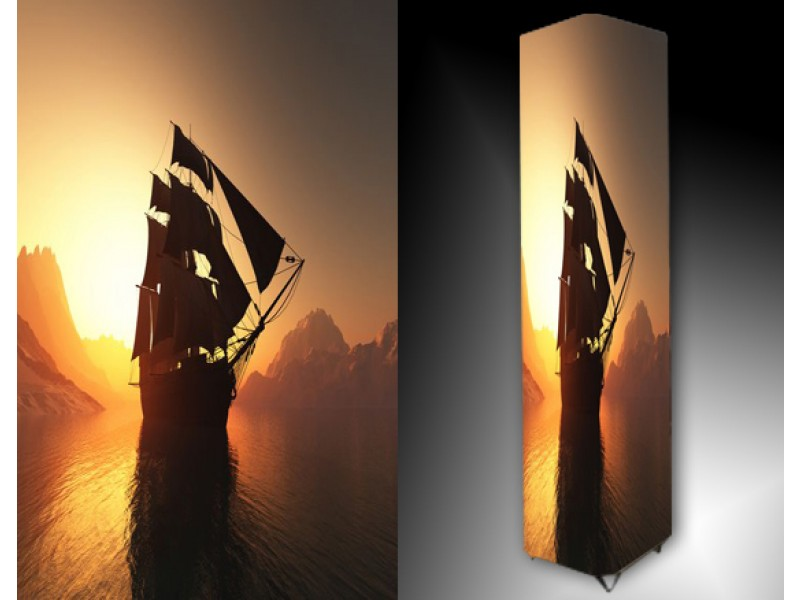 Ledlamp 1502, Boot, Oranje, Wit, Zwart