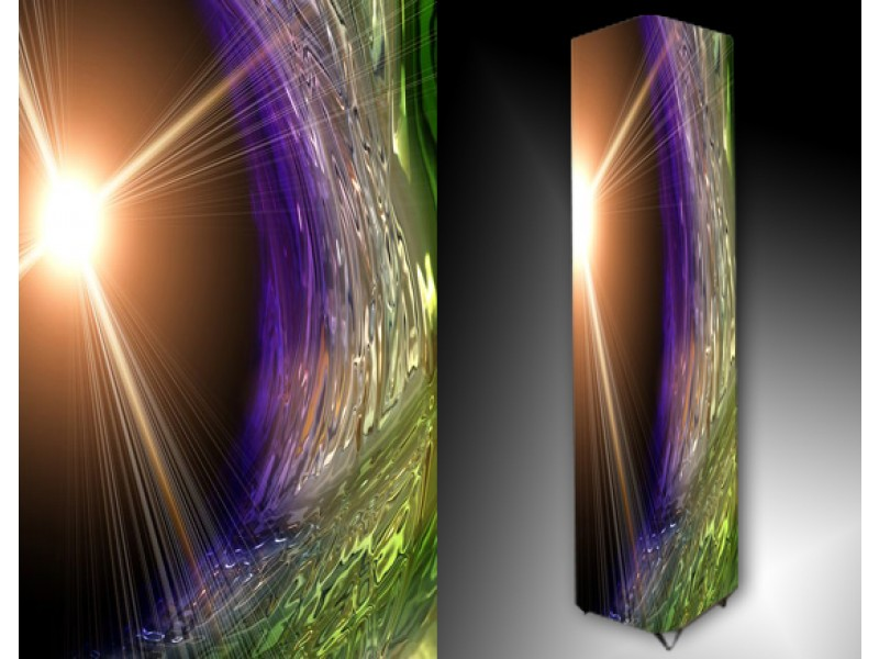 Ledlamp 158, Abstract, Groen, Paars, Bruin