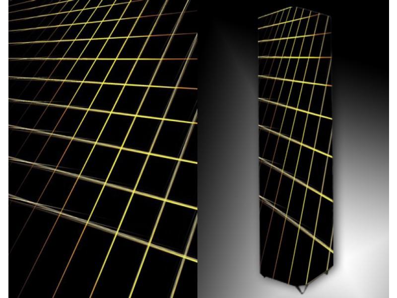 Ledlamp 163, Abstract, Zwart, Geel