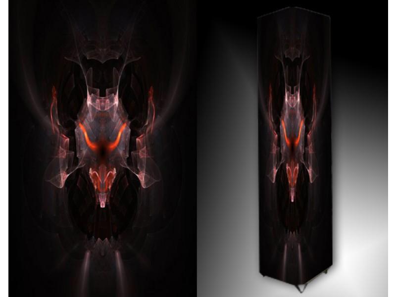 Ledlamp 165, Abstract, Zwart, Rood, Grijs