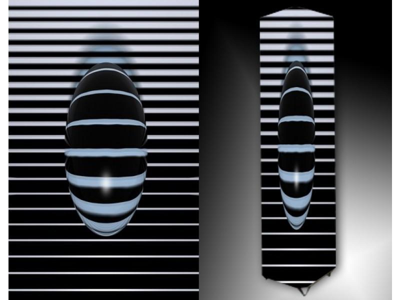 Ledlamp 166, Abstract, Wit, Zwart