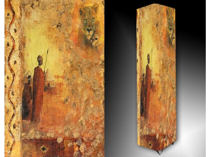 Ledlamp 17, Abstract, Bruin, Geel, Grijs