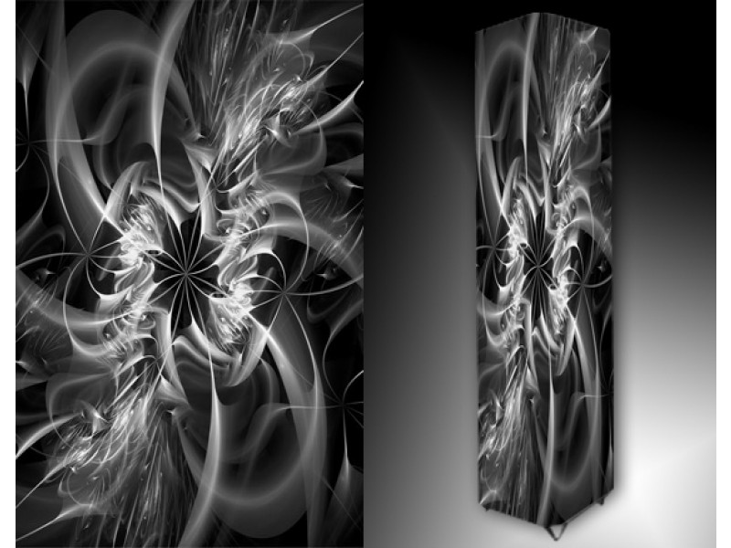 Ledlamp 172, Abstract, Zwart, Wit, Grijs