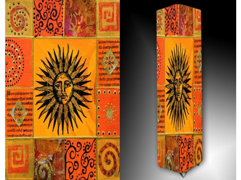 Ledlamp 18, Abstract, Geel, Oranje, Zwart