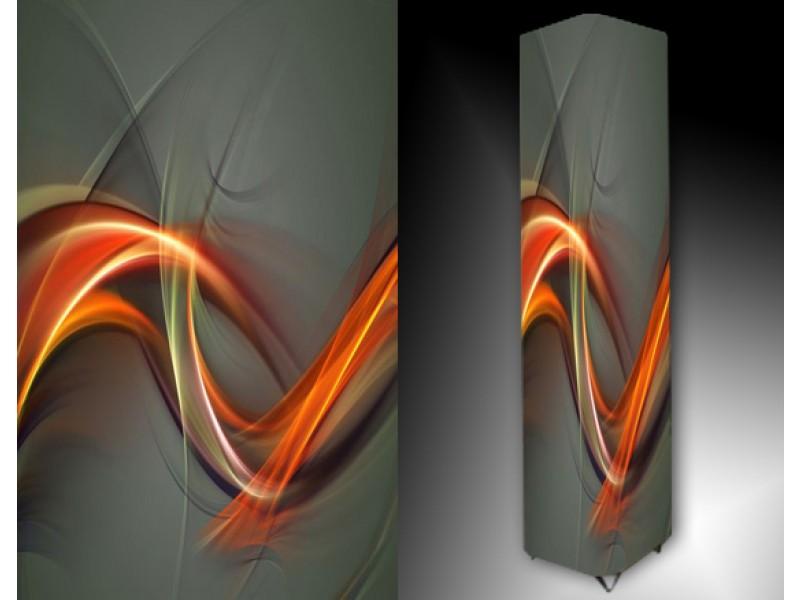Ledlamp 188, Abstract, Grijs, Oranje, Geel