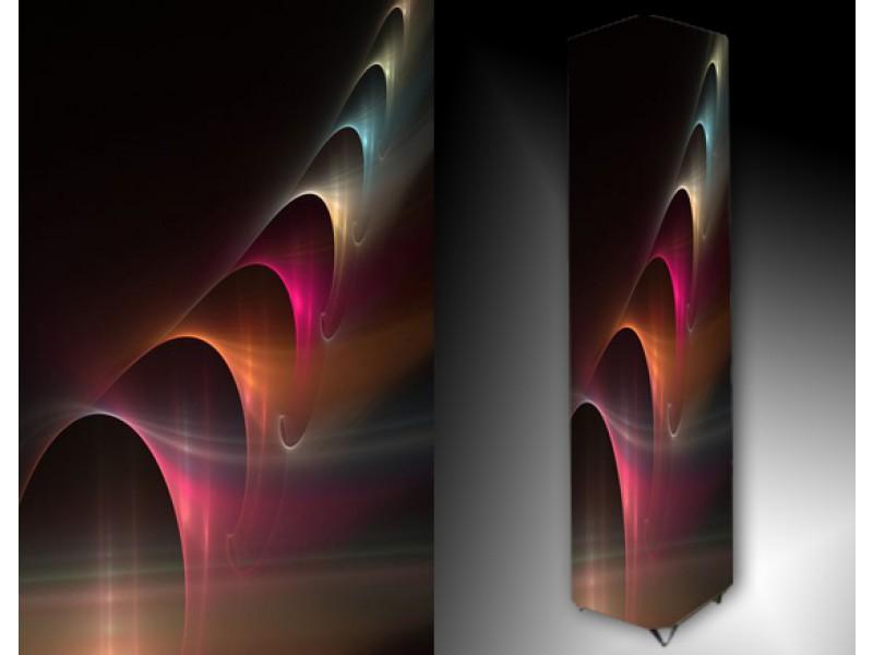 Ledlamp 190, Abstract, Roze, Blauw, Zwart