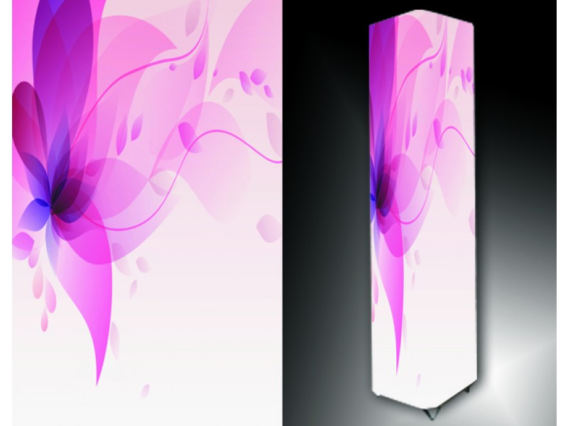 Ledlamp 195, Abstract, Roze, Wit, Paars
